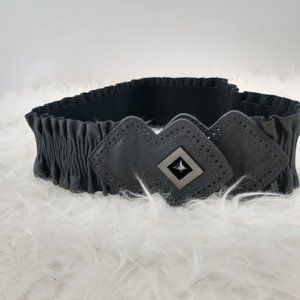 Nordstrom Belt Diamond Lock Stretch Gray